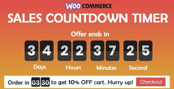 Checkout Countdown v1.0.1.1-WooCommerce和WordPress的销售倒数计时器