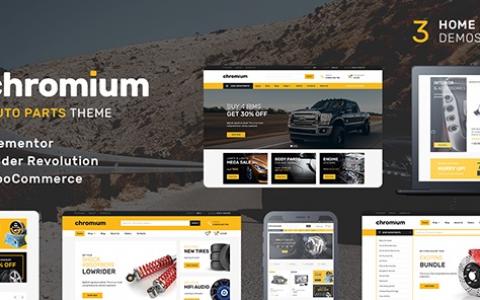 Chromium v1.3.16 –汽配店WordPress WooCommerce主题