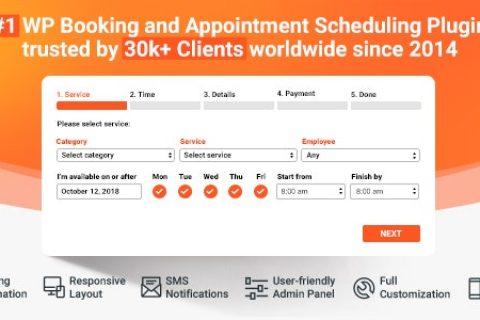Bookly PRO v19.9 – 预约预约和排程软件系统+所有插件
