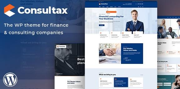 Consultax v1.0.8-金融和咨询WordPress主题