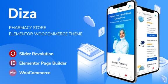 Diza v1.1.2-药房商店Elementor WooCommerce主题