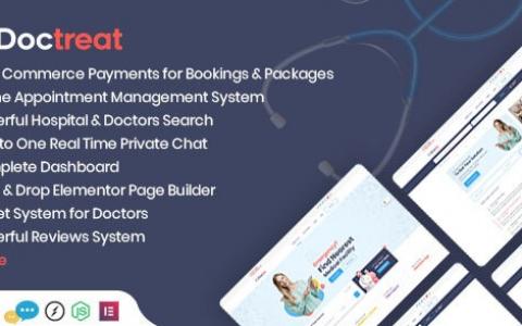Doctreat v1.1.3 – Doctors Directory WordPress主題