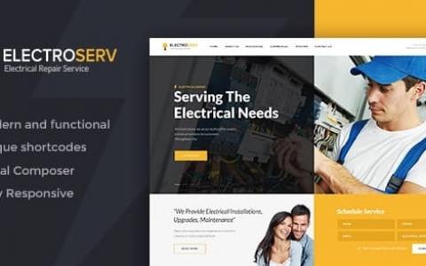 ElectroServ v1.3.2   电气维修服务WordPress主题