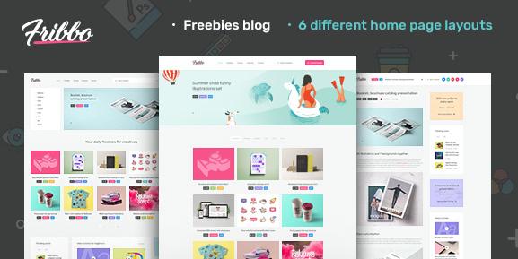 Fribbo v1.0.2-Freebies Blog WordPress主题