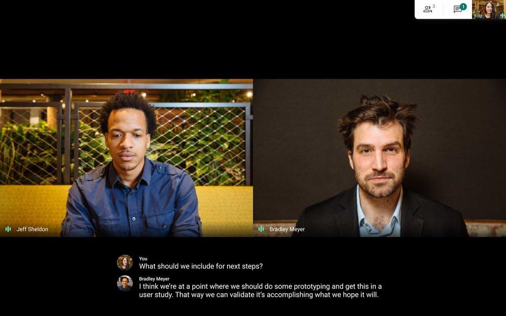 Zoom vs Microsoft Teams vs Google Meet:行动中的Google Meet
