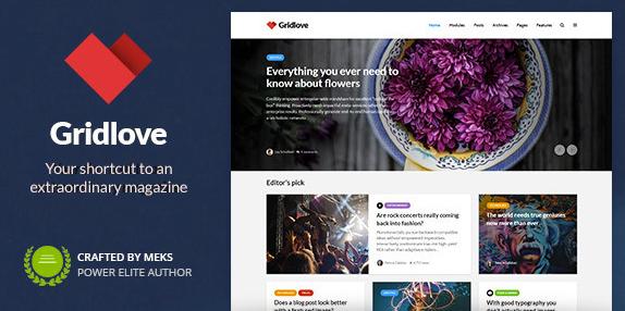 Gridlove v1.9.5-创意网格样式新闻和杂志WordPress主题