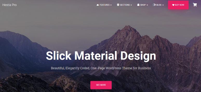 Hestia Pro v3.0.6-面向初创企业的夏普材料设计主题| 有创意