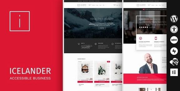 Icelander v1.5.5-可访问的业务组合和WooCommerce WordPress主题