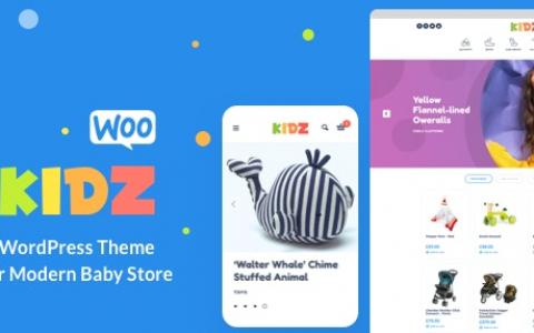 KIDZ v3.1 –婴儿用品及儿童用品商店WordPress WooCommerce主题