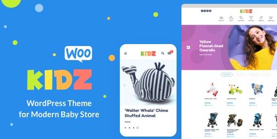 KIDZ v3.1-婴儿用品店和儿童商店WordPress WooCommerce主题