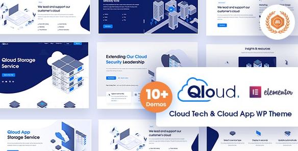 Qloud v1.9-云计算,应用程序和服务器WordPress主题