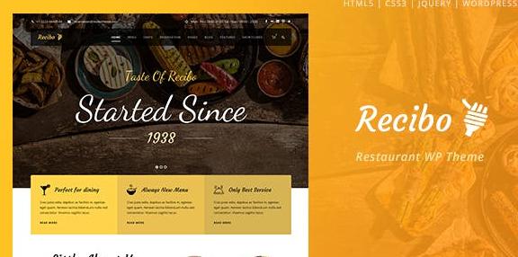 Recibo v1.3.0-餐厅/食品/厨师WordPress主题