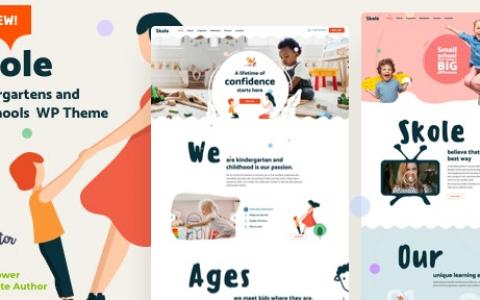 Skole v2.3 –学校幼儿园WordPress Elementor