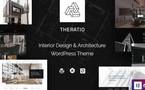 Theratio v1.1.3.2 – Elementor的建筑与室内设计主题