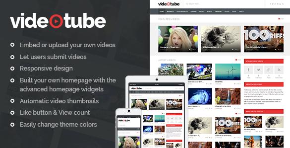 VideoTube v3.4.3.3-响应式视频WordPress主题