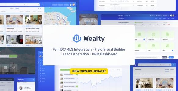 Wealty v3.1-多用途房地产WordPress主题