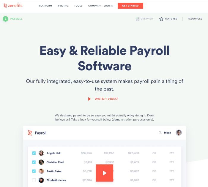 最佳薪资软件:Zenefits