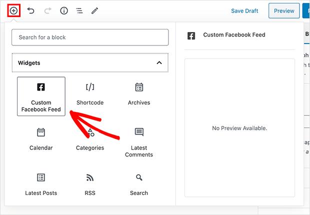 add-custom-facebook-feed-block-2