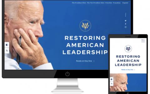 Biden-Harris Transition网站在WordPress上启动