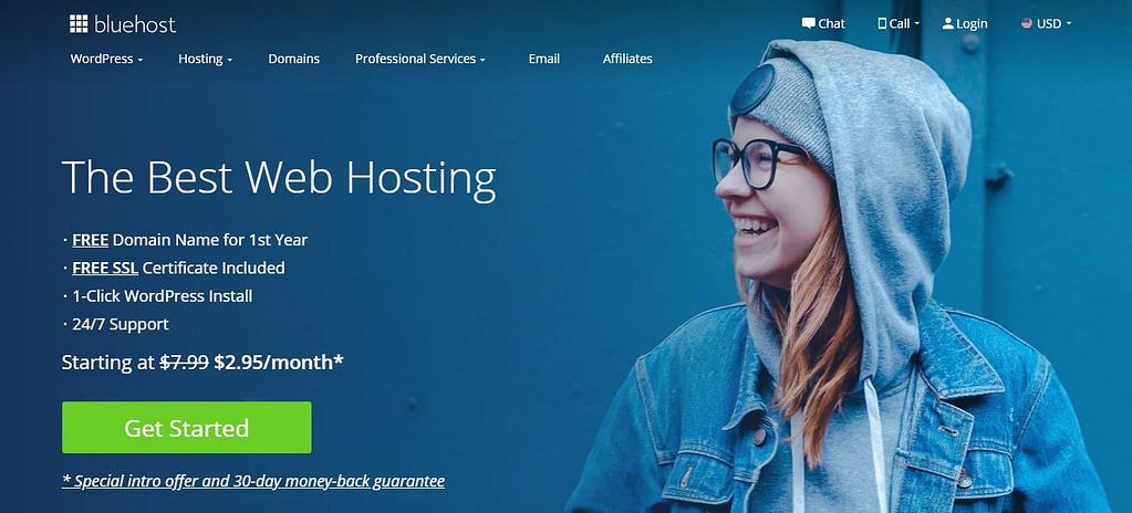 WordPress计划说明:用于自托管WordPress的Bluehost