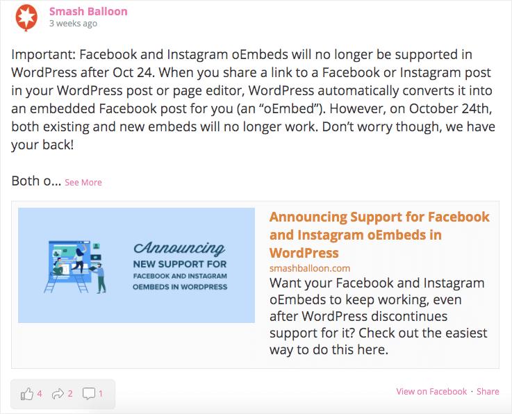 facebook-feed-on-website