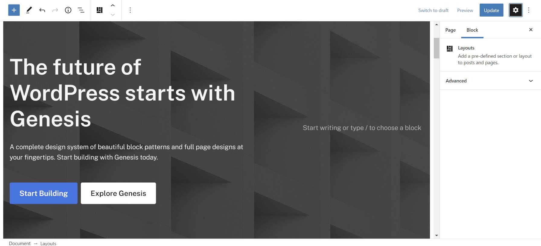 创世纪-主题-beta-studiopress追求一个区块的第一个未来创世纪-主题主题beta,StudioPress追求第一个-未来的未来