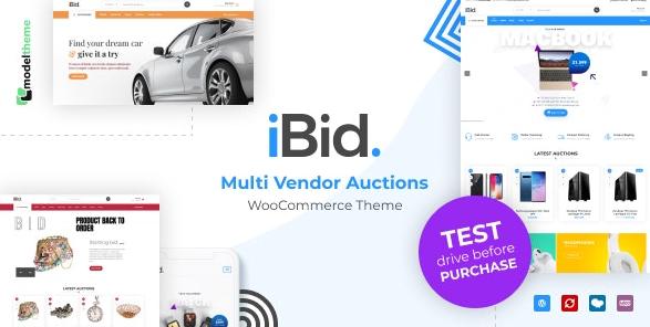 iBid v2.6-多供應商拍賣WooCommerce主題