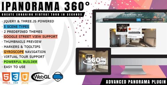 iPanorama 360°v1.6.5-适用于WordPress的虚拟导览工具