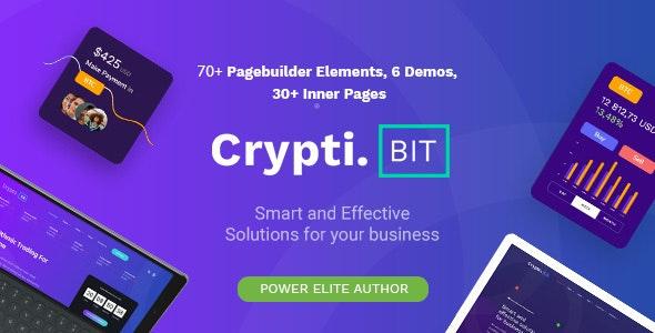 CryptiBIT v1.2 –技术,加密货币,ICO / IEO登陆页面WordPress主题
