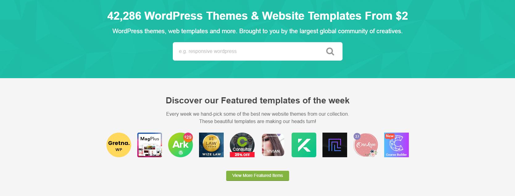 Themeforest网站。