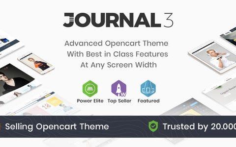 Journal v3.1.5 OpenCart –通用OpenCart模板