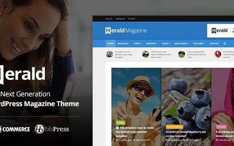 Herald v2.5 – 报纸和新闻门户 WordPress 主题