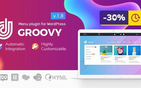 Groovy Mega Menu v2.4.2 –适用于WordPress的Mega Menu
