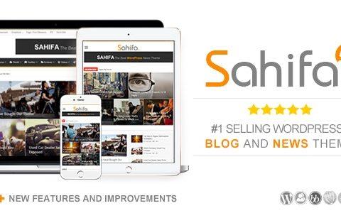 Sahifa v5.7.4 –响应式WordPress新闻/杂志/博客主题