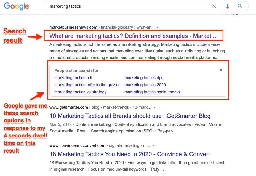 营销策略Google搜索结果建议