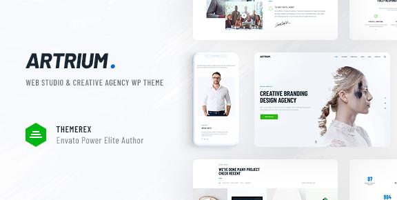 Artrium v1.0.4 | 创意代理商和Web Studio WordPress主题