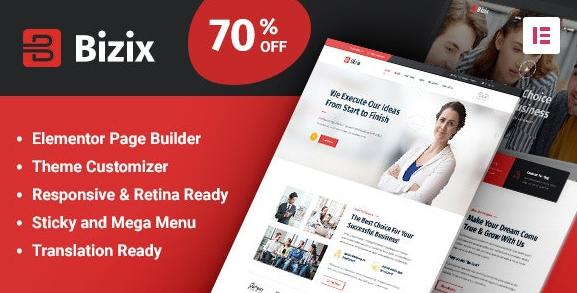 Bizix v1.1.6-企业和商业WordPress主题