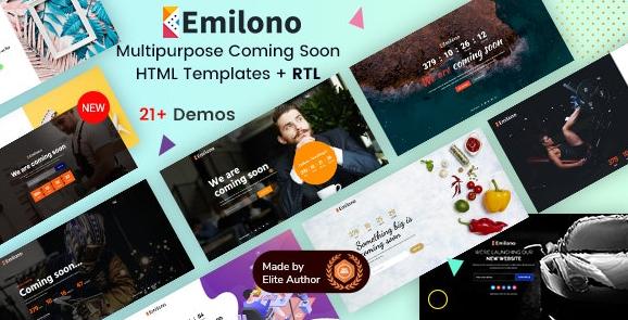 Emilono-即将发布HTML模板