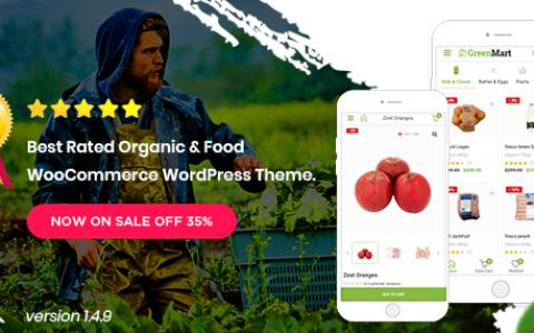 Greenmart v3.0.3 –有機和食品Woocommerce WordPress主題