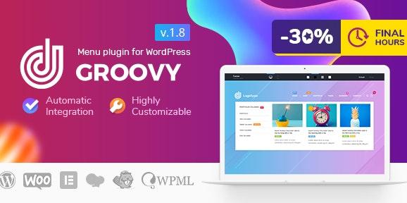 Groovy Mega Menu v2.4.0-适用于WordPress的响应式Mega Menu插件