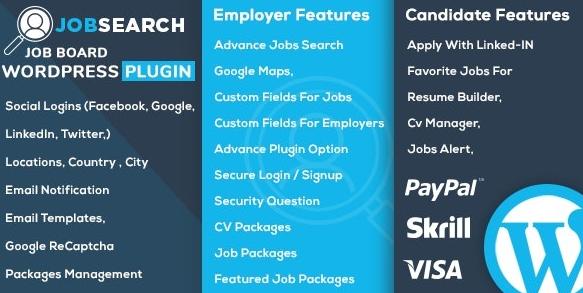 JobSearch v1.6.3-WP Job Board WordPress插件