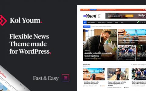 Kolyoum v2.3.2 – Newspaper Magazine News BuddyPress AMP