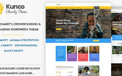 Kunco v1.2 –慈善和筹款WordPress主题