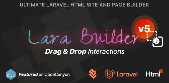LaraBuilder v5.1.0-Laravel拖放SaaS HTML网站构建器