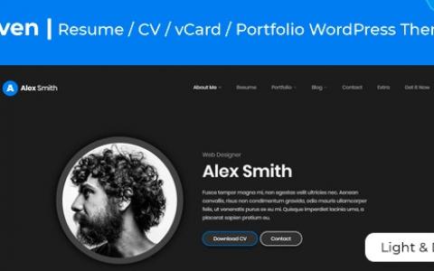 Leven v1.5.3 | 简历/恢复WordPress主题