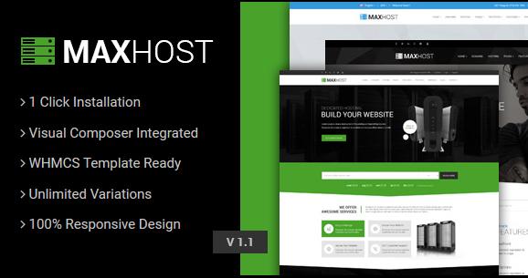 MaxHost v7.3-虛擬主機,WHMCS和公司業務WordPress主題