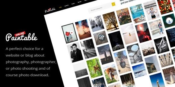 Paintable v2.4-摄影和博客/照片下载WordPress主题