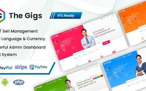 Thegigs v1.0 –具有管理面板的自由市场脚本(Web + Android + IOS)
