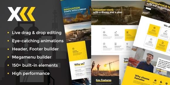 Samatex v2.7-工业WordPress主题+ Woocommerce