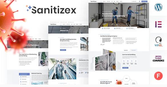 Sanitizex v1.2-消毒服务WordPress主题